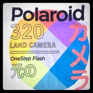 New Polaroid T Shirt Japanese Lettering Unisex L